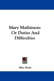 Cover of: Mary Mathieson | Mrs. Scott