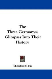 Cover of: The Three Germanys