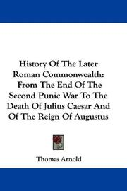 Cover of: History Of The Later Roman Commonwealth
