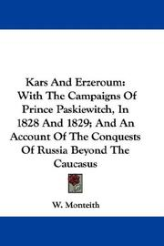 Cover of: Kars And Erzeroum | W. Monteith