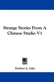 Cover of: Strange Stories From A Chinese Studio V1