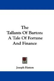 Cover of: The Tallants of Barton