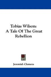 Cover of: Tobias Wilson