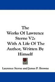 Cover of: The Works Of Lawrence Sterne V2
