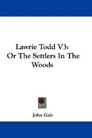 Cover of: Lawrie Todd V3
