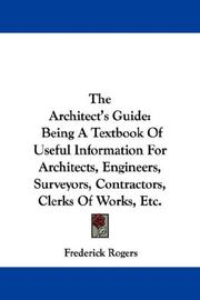 Cover of: The Architect's Guide
