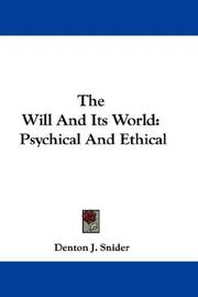 Cover of: The Will And Its World