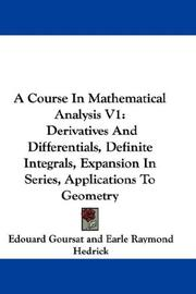Cover of: A Course In Mathematical Analysis V1