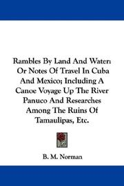 Cover of: Rambles By Land And Water | B. M. Norman