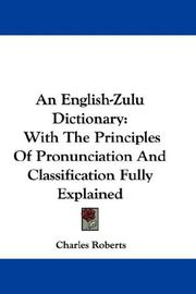 Cover of: An English-Zulu Dictionary