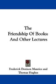 Cover of: The Friendship Of Books