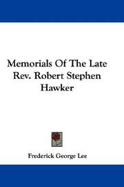 Cover of: Memorials Of The Late Rev. Robert Stephen Hawker