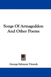 Cover of: Songs Of Armageddon And Other Poems