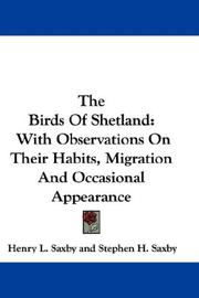 Cover of: The Birds Of Shetland | Henry L. Saxby