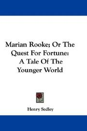 Cover of: Marian Rooke; Or The Quest For Fortune | Henry Sedley