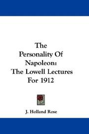 Cover of: The Personality Of Napoleon | J. Holland Rose