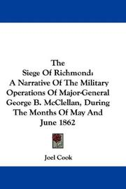 Cover of: The Siege Of Richmond | Joel Cook
