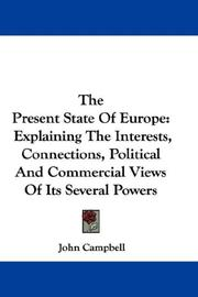 Cover of: The Present State Of Europe | John Campbell