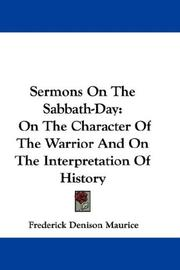 Cover of: Sermons On The Sabbath-Day