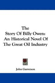Cover of: The Story Of Billy Owen