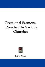 Cover of: Occasional Sermons