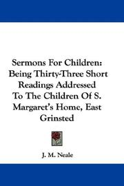 Cover of: Sermons For Children