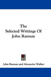 Cover of: The Selected Writings Of John Ramsay | John Ramsay