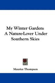 Cover of: My Winter Garden