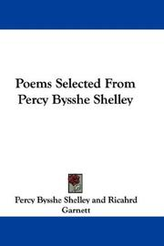 Cover of: Poems Selected From Percy Bysshe Shelley | Percy Bysshe Shelley