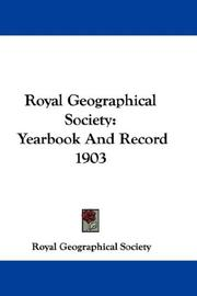 Cover of: Royal Geographical Society