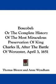Boscobel by Thomas Blount