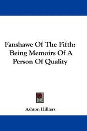 Cover of: Fanshawe Of The Fifth