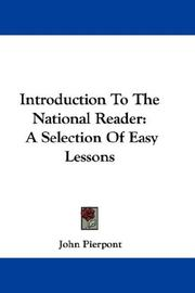 Cover of: Introduction To The National Reader | Pierpont, John