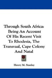 Cover of: Through South Africa | Henry M. Stanley