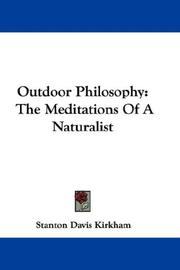 Cover of: Outdoor Philosophy