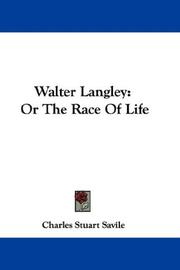Cover of: Walter Langley | Charles Stuart Savile