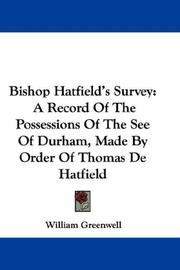 Cover of: Bishop Hatfield's Survey