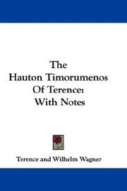 Cover of: The Hauton Timorumenos Of Terence | Publius Terentius Afer