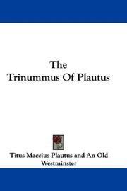 Cover of: The Trinummus Of Plautus
