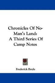 Cover of: Chronicles Of No-Man's Land