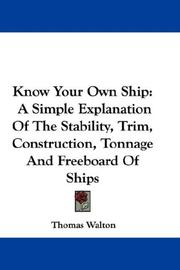 Cover of: Know Your Own Ship | Thomas Walton