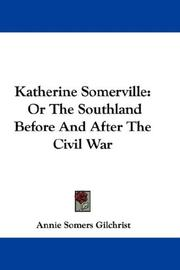 Cover of: Katherine Somerville | Annie Somers Gilchrist