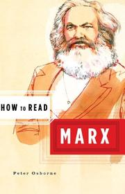 Cover of: How to read Marx | Osborne, Peter