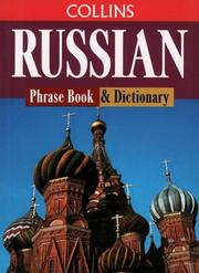 Cover of: Russian Phrase Book and Dictionary