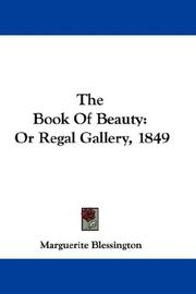 Cover of: The Book Of Beauty | Marguerite Blessington