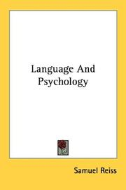 Cover of: Language And Psychology