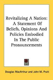 Cover of: Revitalizing a nation