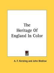 Cover of: The Heritage Of England In Color | A. F. Kersting