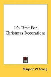 Cover of: It's time for Christmas decorations