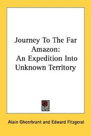 Cover of: Journey To The Far Amazon